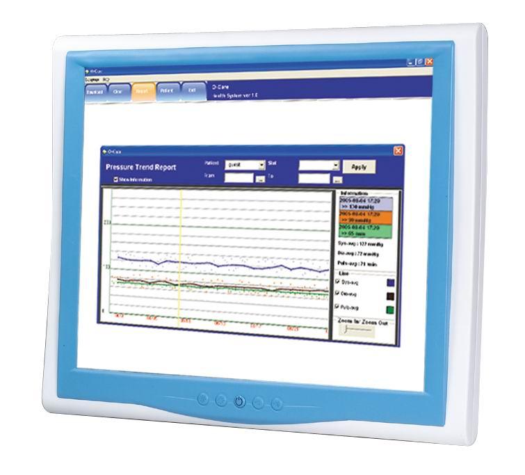 """Profesjonalna stacja medyczna z ekranem LCD 19"""" i bezwentylatorowym procesorem Intel Core 2 Duo"""