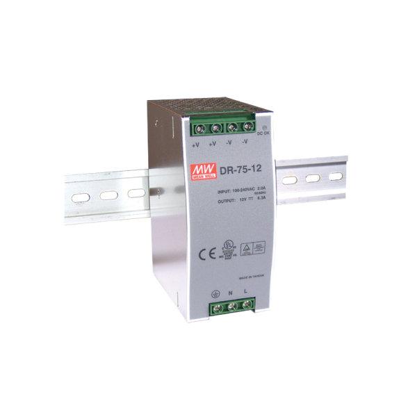 Zasilacz 48V/1.6A do montażu na szynie DIN | DR-75-48