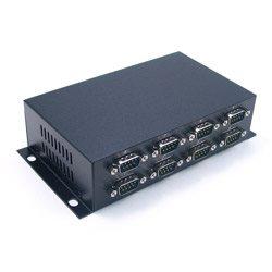 8 portów RS-232 na USB 2.0, optoizolacja i zab. przeciwprzepięciowe, złącza DB9 | UTS-408AK-SI