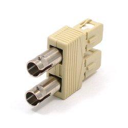 Przejściówka światłowodowa pomiędzy złączem SC a ST   AD-SCM-STF-M