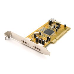 Industrial 2+1 Port USB2.0 PCI Card, with Locking Feature | USB-1917K