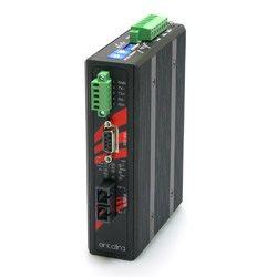 Przemysłowy konwerter z RS-232/422/485 na światłowód, 1 port optyczny jednomodowy 30km, złącza SC, izolacja 2,5KV, temp. pracy 0°C ~ 60°C   STF-501C-CS30