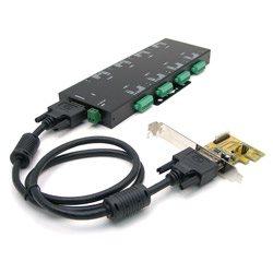 Uniwersalna karta 8 portów RS-232/422/485 z optoizolacją do magistrali PCI Express   MSC-208C-SI