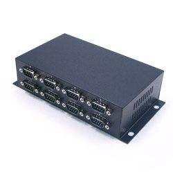 8 portów RS-232 na USB 2.0, optoizolacja i zab. przeciwprzepięciowe, złącza DB9 | UTS-408A-SI