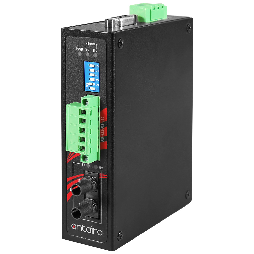 RS-232/422/485 do konwertera światłowodowego, Single-Mode 30KM, złącze ST, -40°C~70°C – STF-401C-TS30-T