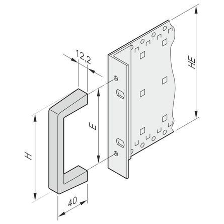 Uchwyt przedni aluminiowy 9U BLACK