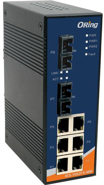 8-portowy niezarządzalny switch Ethernet, IES-1062FX-MM-SC
