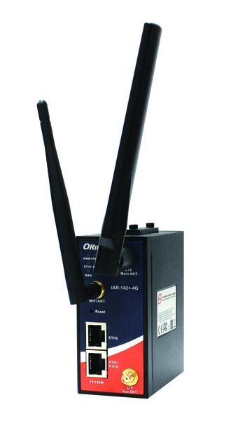 Przemysłowy router na szyne DIN 4G LTE, IAR-142-4G