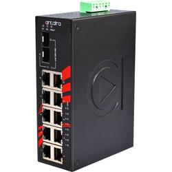 12-portowy niezarządzalny Switch Gigabit Ethernet PoE, -40°C~+75°C, LNP-1202G-SFP-T