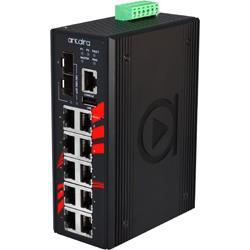 12-portowy zarządzalny switch Gigabit Ethernet PoE, LMP-1202G-SFP