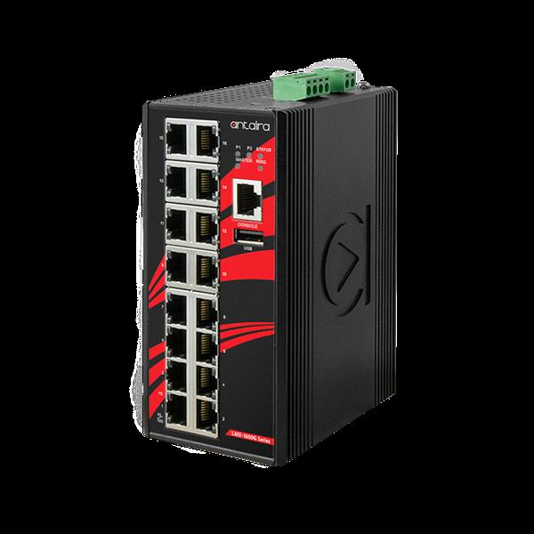 16-portowy zarządzalny switch Gigabit Ethernet, LMX-1600G